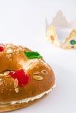 Dessert typique d'Espagnol de ` de Roscon de Reyes de ` d'épiphanie Images stock