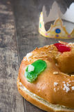 Dessert typique d'Espagnol de ` de Roscon de Reyes de ` d'épiphanie, Photographie stock libre de droits