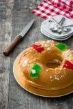 Dessert typique d'Espagnol de ` de Roscon de Reyes de ` d'épiphanie, Photos libres de droits