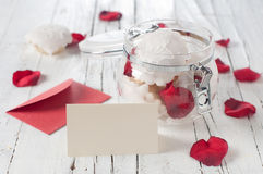 Dessert for Valentine's day Royalty Free Stock Photo