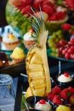 Dessert van ananas bij het Banket Royalty-vrije Stock Fotografie