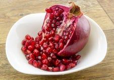 Dessert van granaatappel Royalty-vrije Stock Fotografie