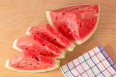 Dessert van het de besnoeiingsvoedsel van de watermeloen het heerlijke royalty-vrije stock afbeelding
