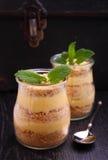 Dessert van koekje en room van condens Stock Fotografie