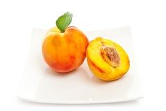 Dessert van perzik royalty-vrije stock afbeeldingen