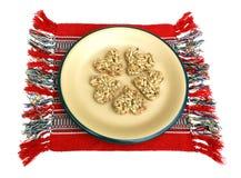 Dessert van zonnebloemzaden stock foto's