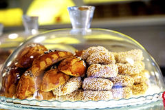 Dessert a variety of delicious Oriental sweets Royalty Free Stock Images