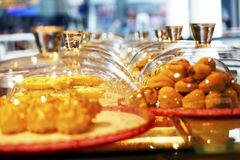 Dessert a variety of delicious Oriental sweets Stock Photography