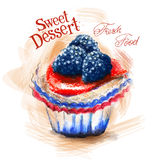 Dessert vector logo design template. cake or fresh Royalty Free Stock Photography