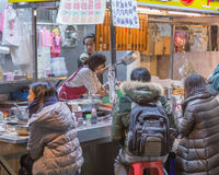 Street food Vendor at night market in Taipei Royalty Free Stock Photos