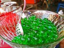 Dessert verde della gelatina Fotografia Stock