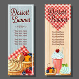 Dessert vertical banner Stock Photography