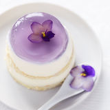 Dessert with violet Stock Image