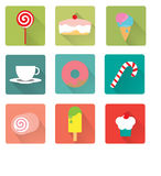 Dessert vlak pictogram vector illustratie