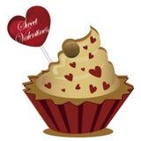 Dessert voor de dag van de valentijnskaart Royalty-vrije Illustratie
