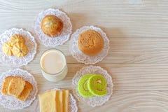 Dessert voor ontbijt stock foto's