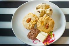 Dessert voor thee en koffietijd Stock Foto