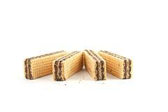 Dessert waffles. On white background Royalty Free Stock Image