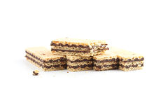 Dessert waffles. On white background Royalty Free Stock Photography