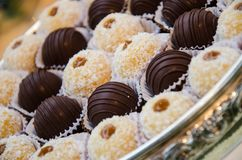 Dessert at a wedding or catering event stock images