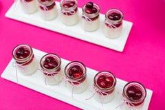 Dessert. Wedding desserts at an indoor wedding party Stock Photography