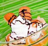 Dessert with whipped cream Royalty Free Stock Image