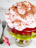 Dessert with whipped cream Royalty Free Stock Photo