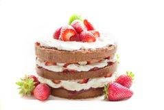 Dessert, Whipped Cream, Strawberry, Cream Stock Photo