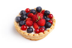 Dessert with wild berries Stock Photography