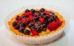 Dessert with wild berries Stock Photo