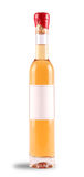 Dessert Wine Bottle. Ice wine bottle with red wax top and a blank label on a white background Stock Image