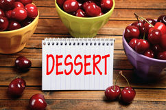 Dessert word Royalty Free Stock Image