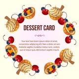 Dessert wreath. Vector file in eps 10 Stock Photo