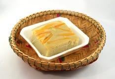 Dessert yellow with pumpkin Royalty Free Stock Photos