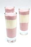Dessert yogurt bilberry Royalty Free Stock Images