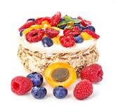 Dessert with yogurt and fresh berries Stock Photos