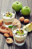 Dessert with yogurt and granola Stock Photo