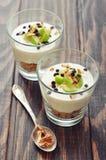 Dessert with yogurt and granola Stock Photos