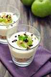 Dessert with yogurt and granola Royalty Free Stock Photography