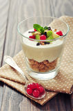 Dessert with yogurt and granola Royalty Free Stock Photos