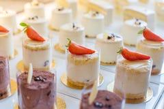 Dessertchocolade Strawberrys Stock Afbeelding