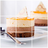 Dessertcollage Stock Foto