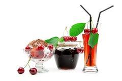 Desserte från Cherry royaltyfria foton