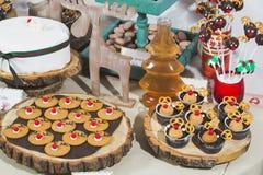 Dessertlijst Stock Fotografie