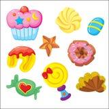 Dessertpictogram (witte achtergrond) stock illustratie