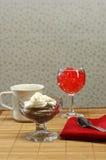 Desserts à basses calories Image libre de droits