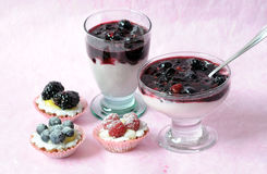 Desserts with berries Stock Image