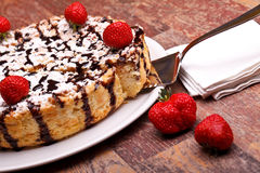Desserts: Cheesecake Stock Photo