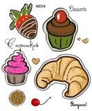Desserts délicieux Illustration de Vecteur