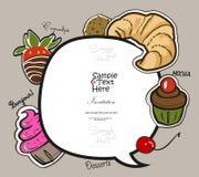 Desserts délicieux Illustration Libre de Droits